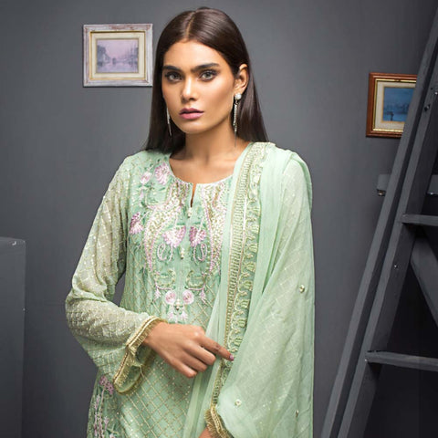 Kalyan Chiffon Embroidered 3 Piece Un-Stitched Suit - 06 - test-store-for-chase-value