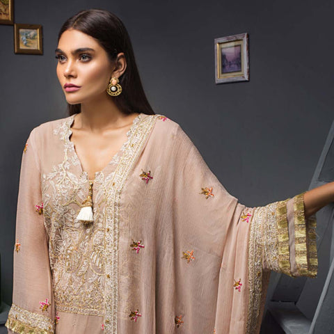Kalyan Chiffon Embroidered 3 Piece Un-Stitched Suit - 07 - test-store-for-chase-value