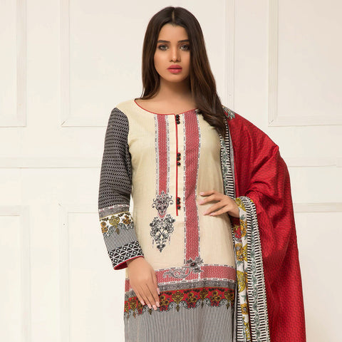 df4c550896 Signature Icon Printed Lawn 3 Piece Un-Stitched Suit Vol 2 - ZS 07 A