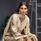 Kalyan Chiffon Embroidered 3 Piece Un-Stitched Suit - 08 - test-store-for-chase-value