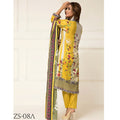 Signature Icon Printed Lawn 3 Piece Un-Stitched Suit Vol 2 - ZS 08 A - test-store-for-chase-value