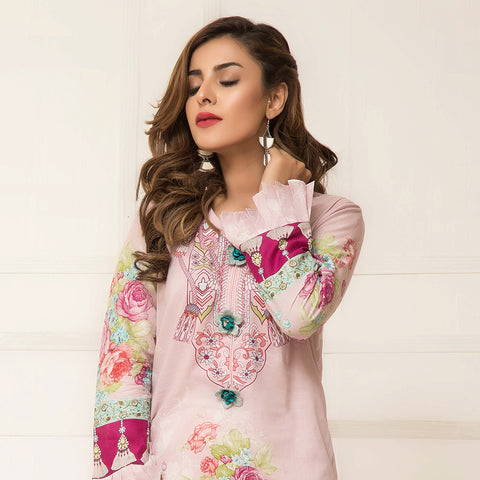 Signature Icon Printed Lawn 3 Piece Un-Stitched Suit Vol 2 - ZS 09 B - test-store-for-chase-value