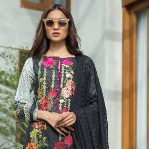 Malkah Festive Embroidered Lawn Suit - 10 - test-store-for-chase-value