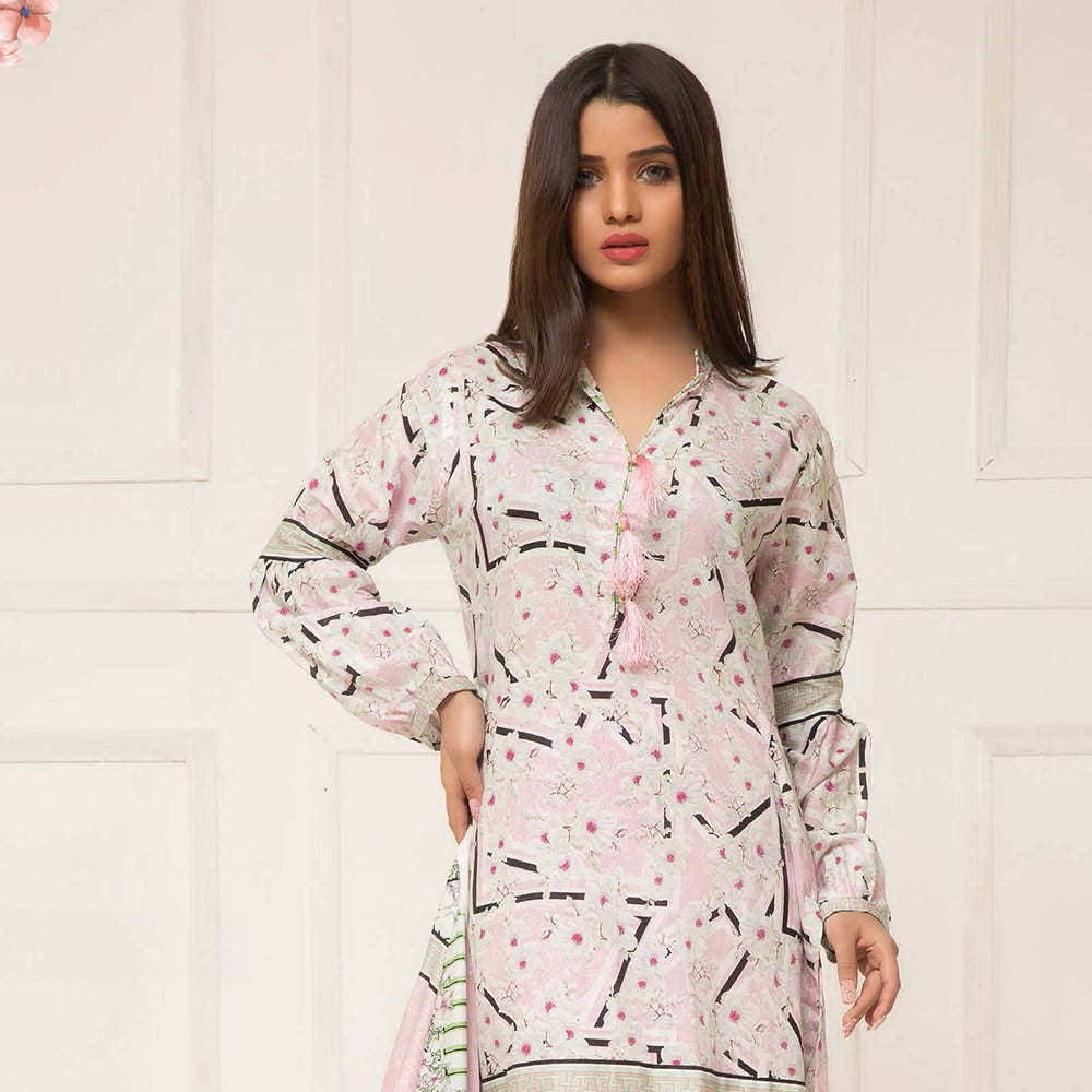 b6bac1cdcc Signature Icon Printed Lawn 3 Piece Un-Stitched Suit Vol 2 - ZS 10 A