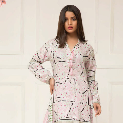 Signature Icon Printed Lawn 3 Piece Un-Stitched Suit Vol 2 - ZS 10 A - test-store-for-chase-value