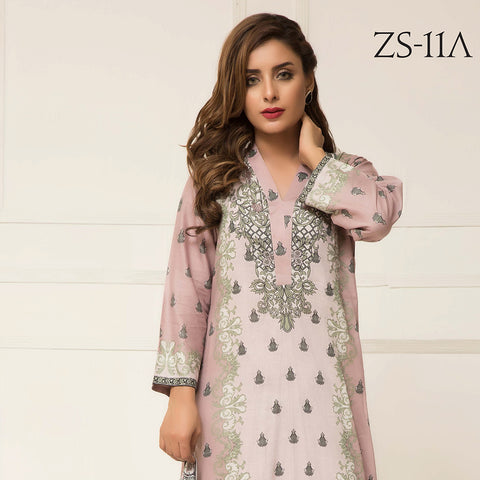 Signature Icon Printed Lawn 3 Piece Un-Stitched Suit Vol 2 - ZS 11 A - test-store-for-chase-value