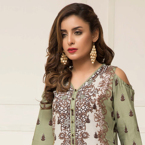 Signature Icon Printed Lawn 3 Piece Un-Stitched Suit Vol 2 - ZS 11 B - test-store-for-chase-value