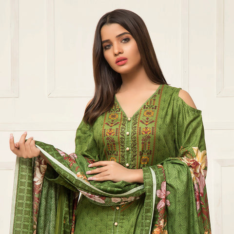 Signature Icon Printed Lawn 3 Piece Un-Stitched Suit Vol 2 - ZS 12 A - test-store-for-chase-value