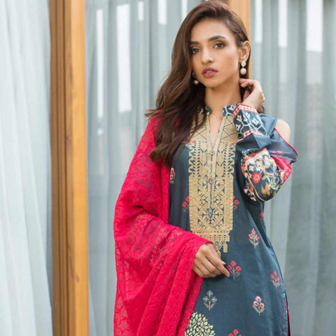 Malkah Festive Embroidered Lawn Suit - 14 - test-store-for-chase-value