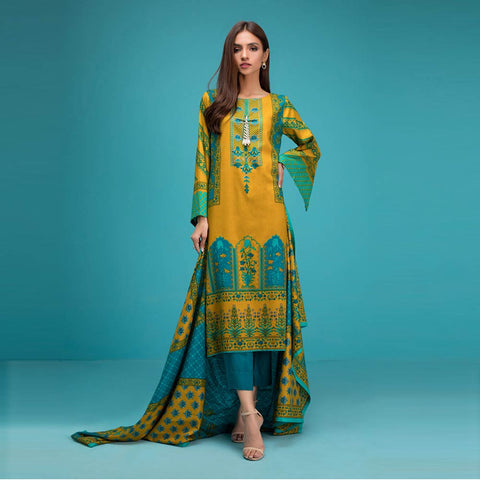 Signature Icon Printed Lawn 3 Piece Un-Stitched Suit Vol 1 - 2 A