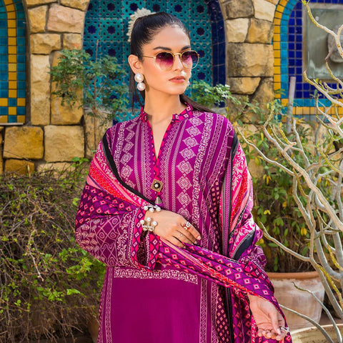 Signature Icon Printed Lawn 3 Piece Un-Stitched Suit Vol 1 - 3 B