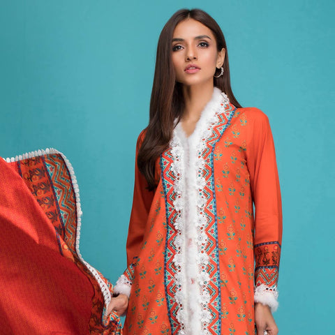 Signature Icon Printed Lawn 3 Piece Un-Stitched Suit Vol 1 - 5 B