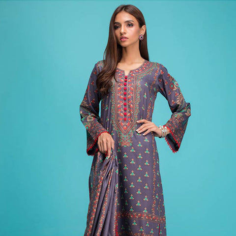 Signature Icon Printed Lawn 3 Piece Un-Stitched Suit Vol 1 - 6 A