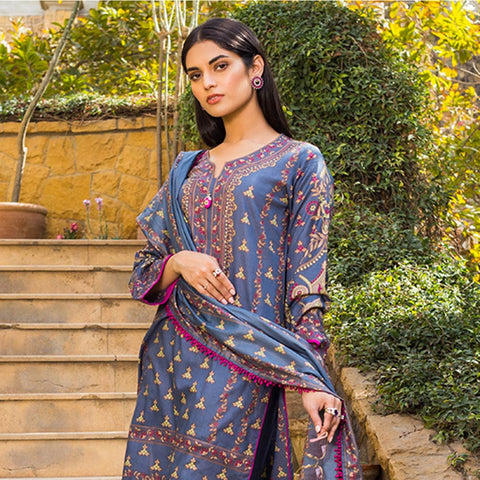Signature Icon Printed Lawn 3 Piece Un-Stitched Suit Vol 1 - 6 B