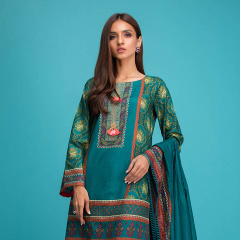 Signature Icon Printed Lawn 3 Piece Un-Stitched Suit Vol 1 - 9 B
