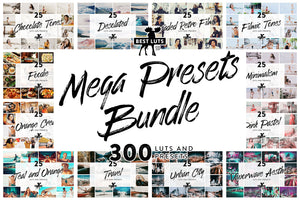 Mega Presets Bundle - 300 LUTs and Lightroom Presets