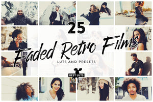 Faded Retro Films - 25 LUTs and Lightroom Presets