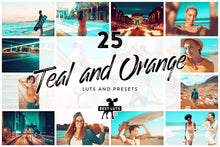 Load image into Gallery viewer, Teal and Orange -  25 LUTs and Lightroom Presets