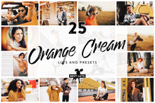 Load image into Gallery viewer, Orange Cream - 25 LUTs and Lightroom Presets