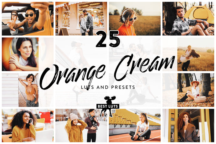 Orange Cream - 25 LUTs and Lightroom Presets