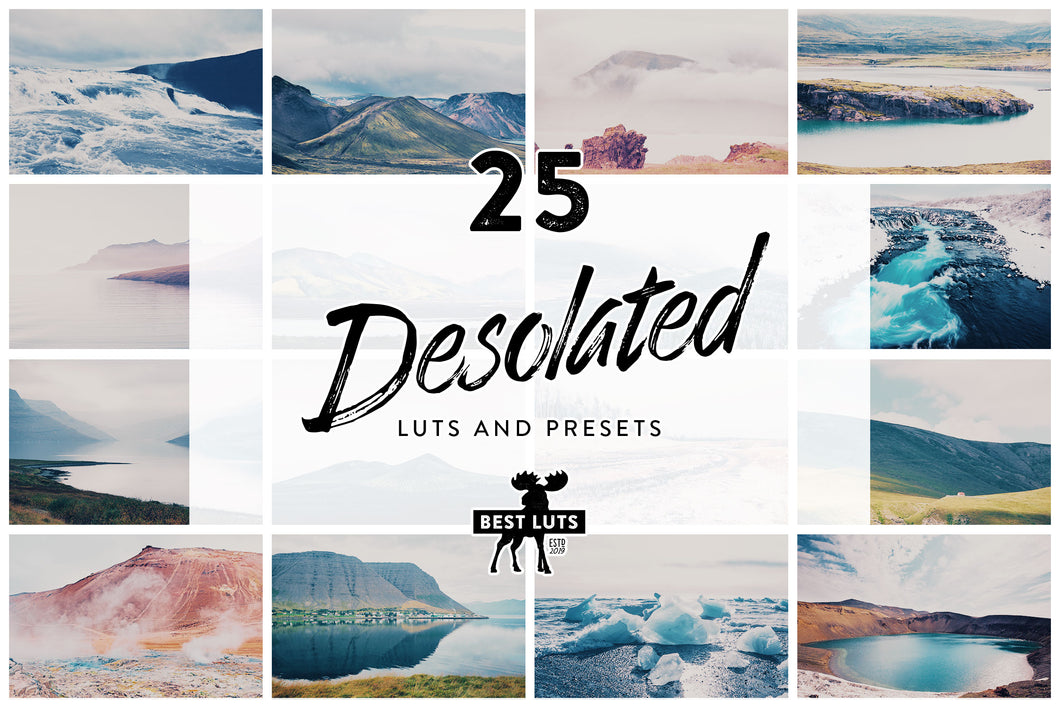 Desolated - 25 LUTs and Lightroom Presets