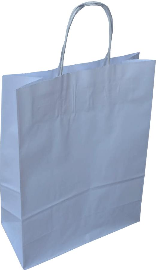 Twisted Handle White Paper Carriers - Gardnersbags