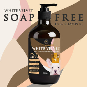 White Velvet Soap Free Dog Shampoo