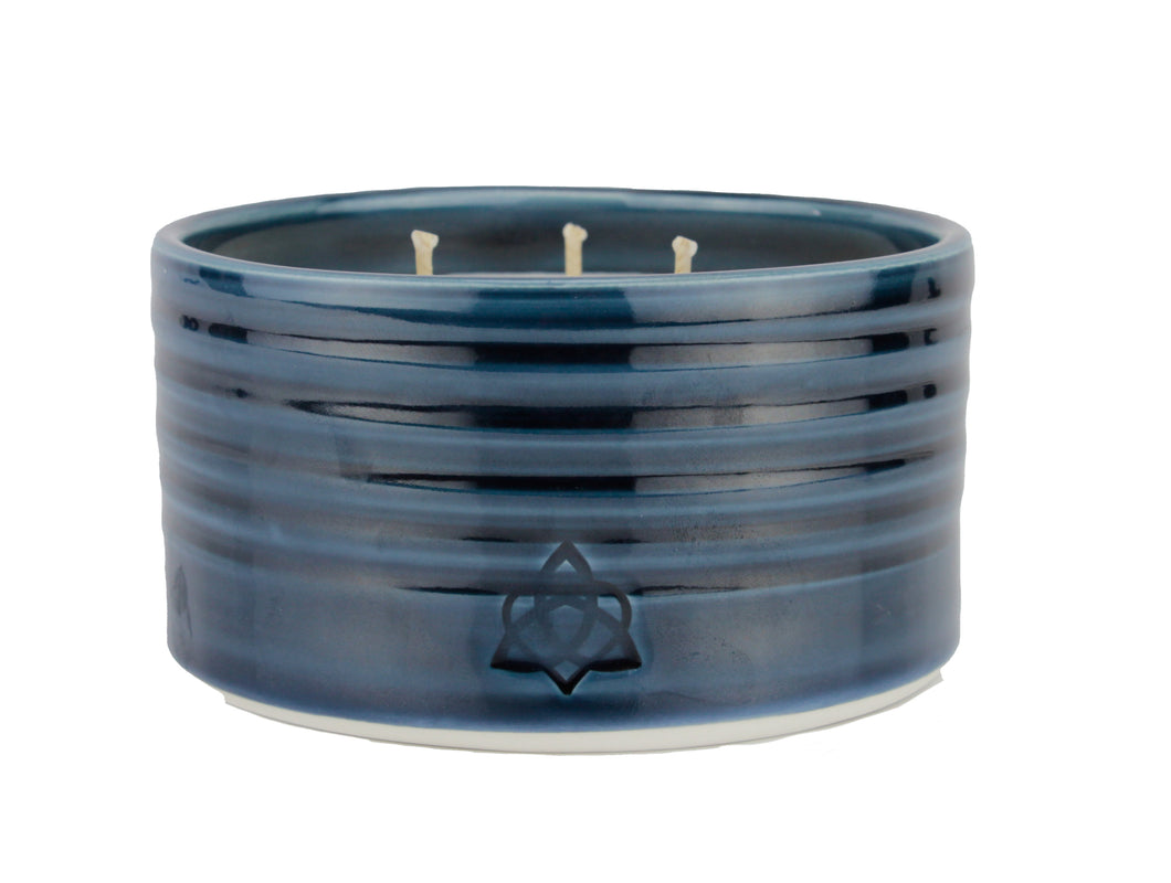 Midnight Blue Pottery 3 Wick
