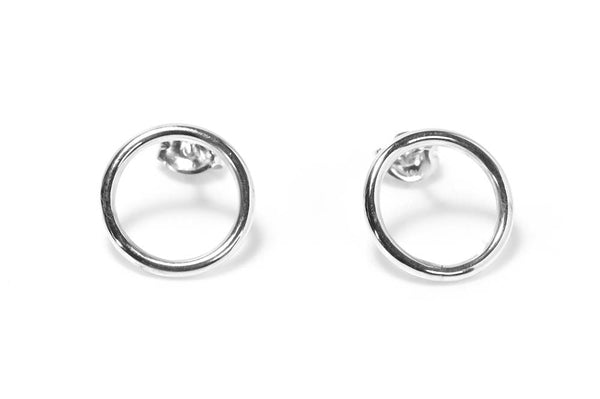 Circle Earrings | Sterling Silver