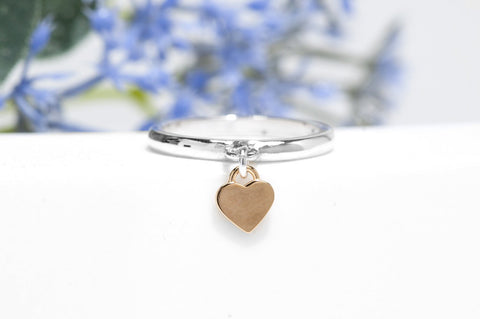 Silver Charm Ring - Heart Ring