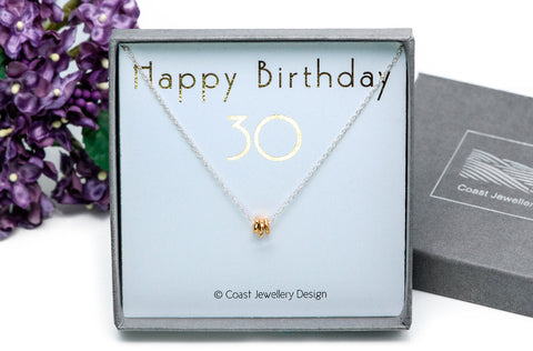 30th Birthday Gift  | Sterling Silver Necklace
