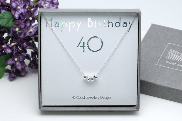 Silver 40th Necklace