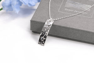 Silver Aquamarine Necklace