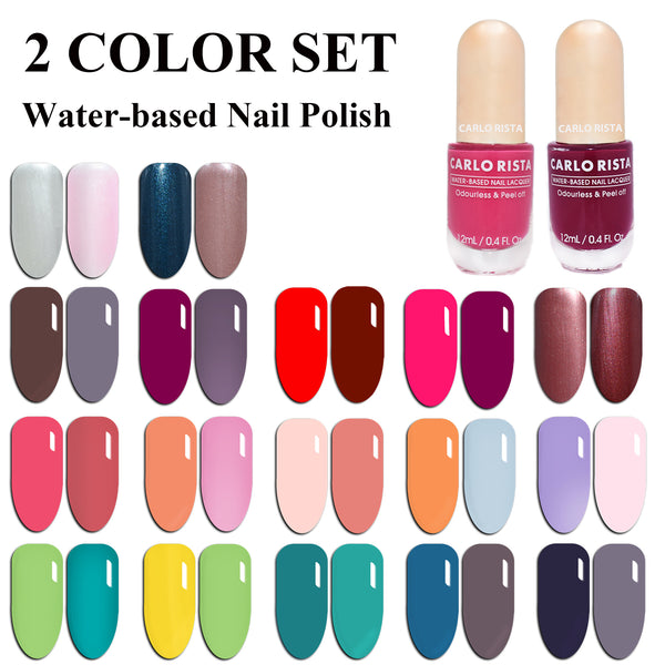 Water-Based Nail Polish 2 Color Set