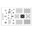 Nail Art Stamping Steel Template