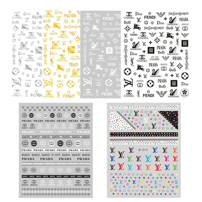 Classic Logo Nail Art Stickers