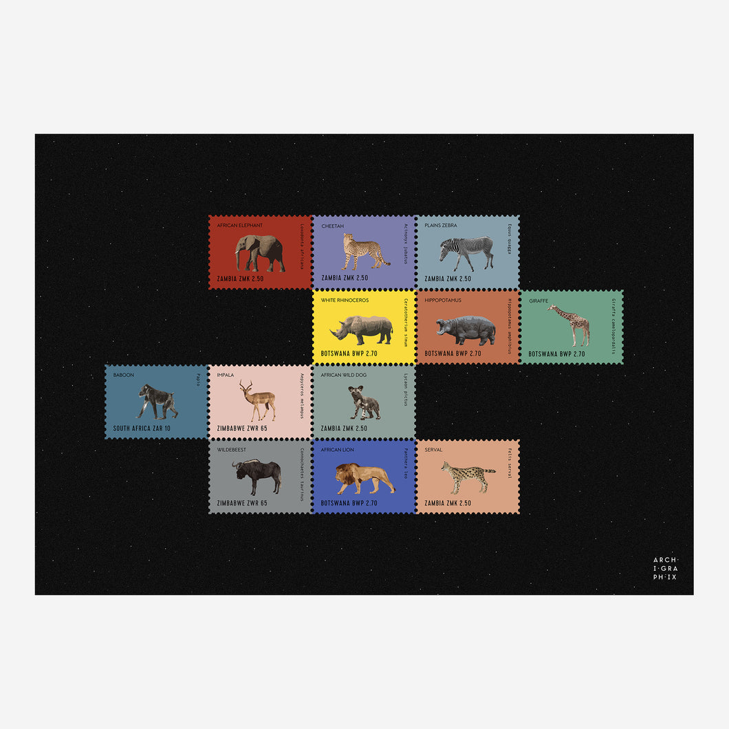 African Animal Stamps