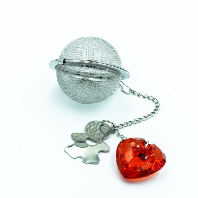 BRW Society Tea Ball Infuser with heart charm