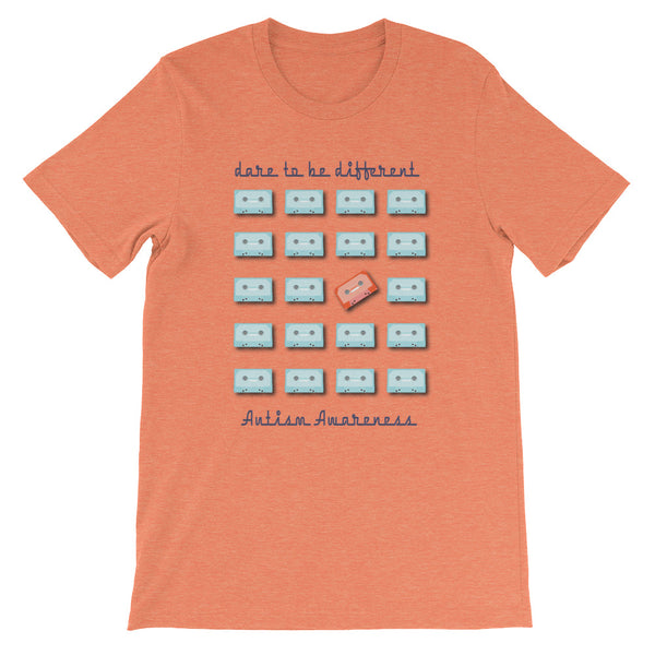 Dare to be different - Autism Awareness - Short-Sleeve Unisex T-Shirt
