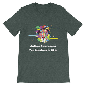 Autism Awareness - Fabulous Lion - Short-Sleeve Unisex T-Shirt