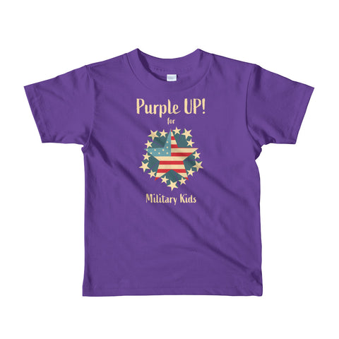 Purple Up! Tee - Star Flag - 2-6 yrs Short sleeve kids t-shirt