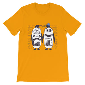 Autism Awareness - Penguins - Short-Sleeve Unisex T-Shirt
