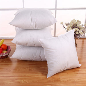 Cotton Square Pillow Bedding  - Square Pillow White - 45x45 - 17.7 in x 17.7in
