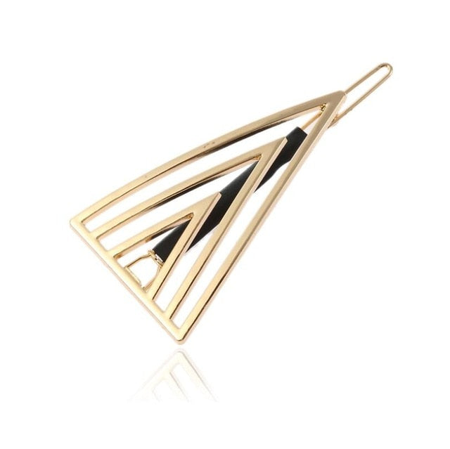 Geometric Hairpins- Triangle Hair Clip for Women - Hair Accessories