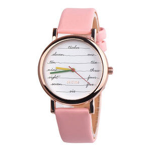 Writers Watch - Poet Watch for Women with Custom Leather Band Colors