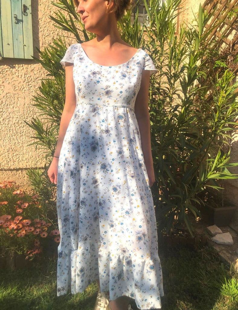 La Robe Bethy Longue - elleanor de provence, garde robe made in france