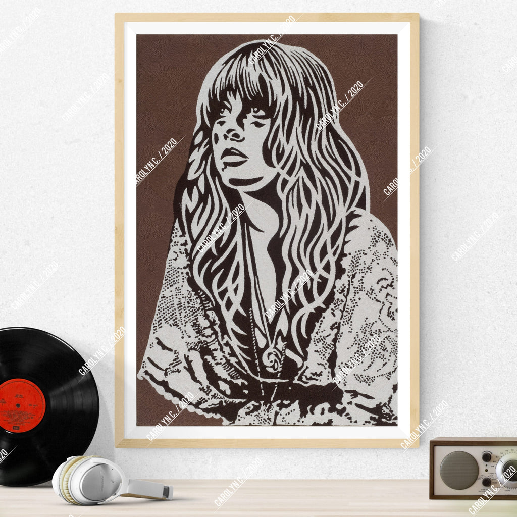 """Stevie Nicks - Never Ending Circles"" Print - Punch Needle Supplies NZ"