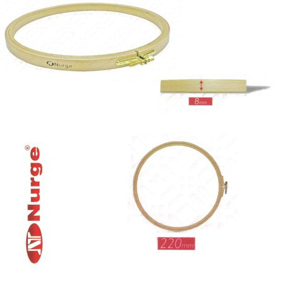 Nurge Wooden Embroidery Hoops for Display or Embroidery - Punch Needle Supplies NZ