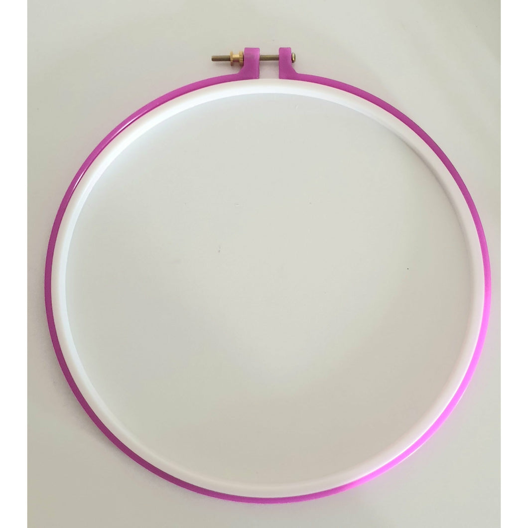 Non Slip plastic hoop with male and female grooves - Punch Needle Supplies NZ
