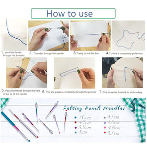 Russian Embroidery Punch Needle 8 size Kit - Punch Needle Supplies NZ